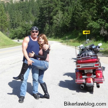 Hayward Motorcycle Accident Lawyer Norman Gregory Fernandez with special friend helena in the black hills of south dakota