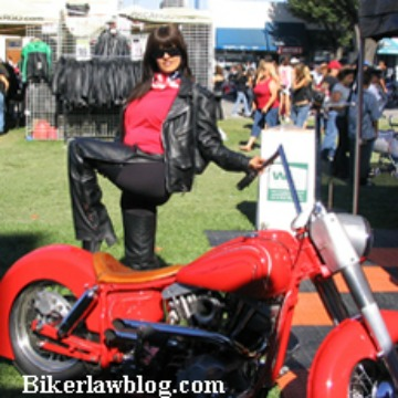 Hollister California Motorcycle Accident Norman Gregory Fernandez's special friend Elizabeth at the Hollister Motorcycle Rally