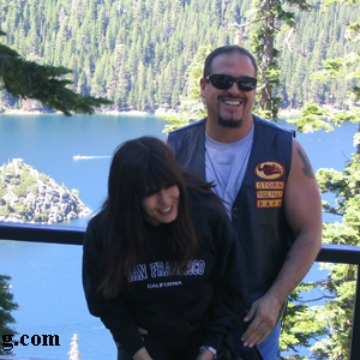 Inglewood motorcycle accident lawyer norman gregory fernandez with ex wife liz at lake tahoe