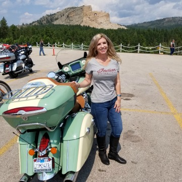 Little Teri, Biker Lawyer Norman Gregory Fernandez's wife at Crazy Horse 2018
