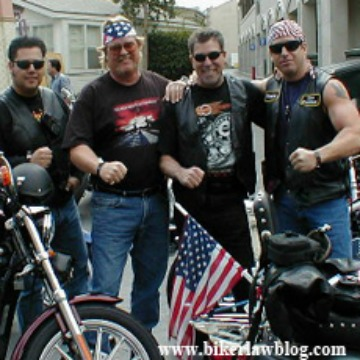 Biker Lawyer Norman Gregory Fernandez with American Cruisers 2001