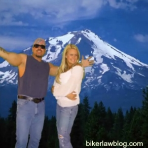 Redding California Motorcycle Accident Lawyer Norman Gregory Fernandez with special friend Chelsey at Shasta