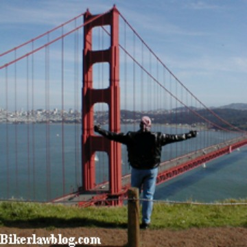 San Francisco Motorcycle Accident Lawyer Norman Gregory Fernandez at the Golden Gate Bridge in San Francisco