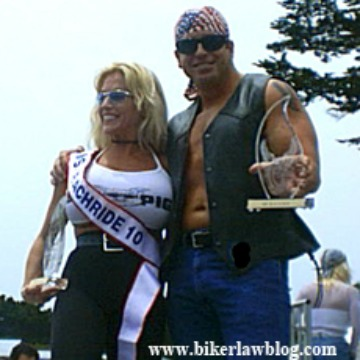 Ventura Motorcycle Accident Lawyer Norman Gregory Fernandez winning the Mr. Beach Ride contest in Ventura California