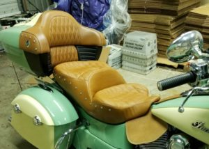 View of new Russel Day Long Seat at factory right side